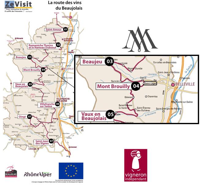 Visite du beaujolais cave alain marquetoux